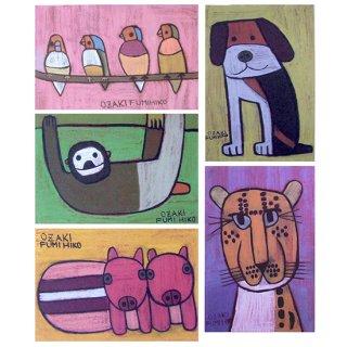 ポストカード・動物5種セット�