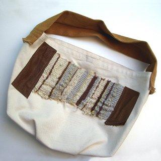 手織りパッチワーク—ONEショルダートートバッグ