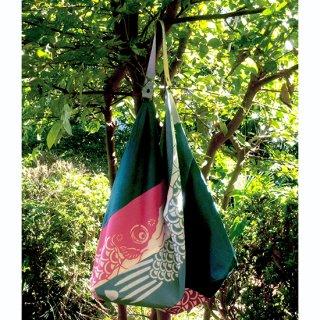 草木染めの型染鯉のぼりのあずま袋
