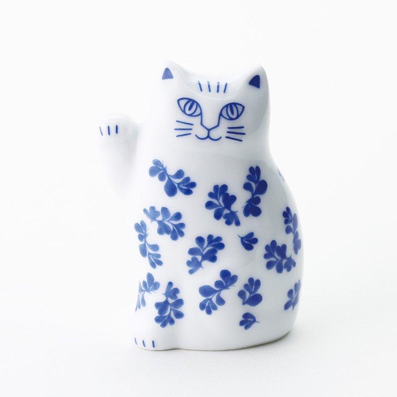 Lisa Larson Japan Seriesリサラーソン まねくねこのこ(ブルー)【招き猫・波佐見焼】