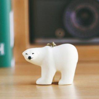 Lisa Larson Animal Keyholder - Polor bear|リサ・ラーソン アニマルキーホルダー ポーラーベア(シロクマ)【北欧】