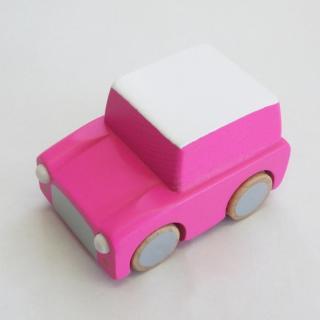 kiko+ kuruma - pink |キコ クルマ - ピンク【 木のおもちゃ・ギフト・車】