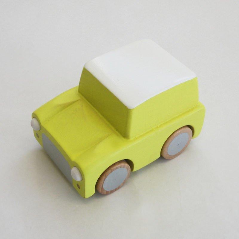 kiko+ kuruma / yellow キコ クルマ / イエロー【 木のおもちゃ・ギフト・車】