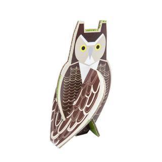 KIDSONROOF - Birds pop out card/Owl<em>キッズオンルーフ フクロウ【組立パズル・インテリア】</em>