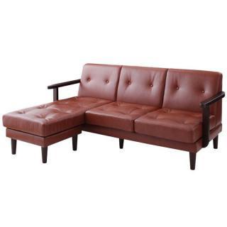 VINK sofa |木肘コーナーカウチソファ・ヴィンク【玄関渡し送料無料】