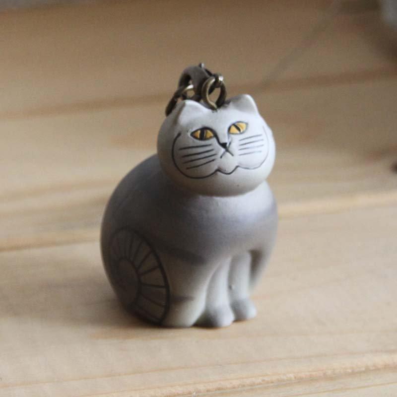 Lisa Larson Animal Keyholder -Mia Cat|リサ・ラーソン アニマルキーホルダー ネコ (MIA)【北欧】