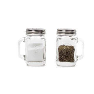 <img class='new_mark_img1' src='https://img.shop-pro.jp/img/new/icons20.gif' style='border:none;display:inline;margin:0px;padding:0px;width:auto;' />Mason Jar Salt&Pepper Shakers|メイソンジャーソルト&ペッパーシェイカー【KIKKERLAND(キッカーランド)・USA】