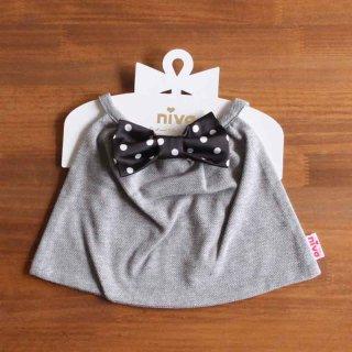 niva-butterfly tie/ gray x black dot|ニヴァ バタフライタイ グレー x ブラックドット【スタイ・ギフト】送料無料