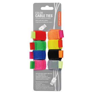 Color Cable Ties set of 8|カラーケーブルタイ【KIKKERLAND(キッカーランド)】