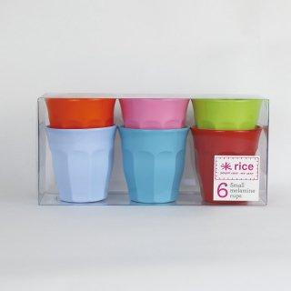 rice - Small Melamine cups /MELCU-6SXC|ライス メラミンカップ6個セット/ブライトカラー【北欧・デンマーク】