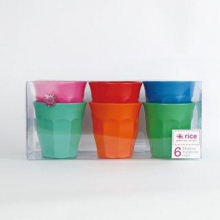 rice - Medium Melamine cups /MELCU-6MSTXC|ライス メラミンカップM6個セット/STAR【北欧・デンマーク】