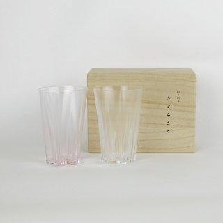 SAKURASAKU glass|サクラサクグラス タンブラー紅白ペア【ペアグラス・ギフト】