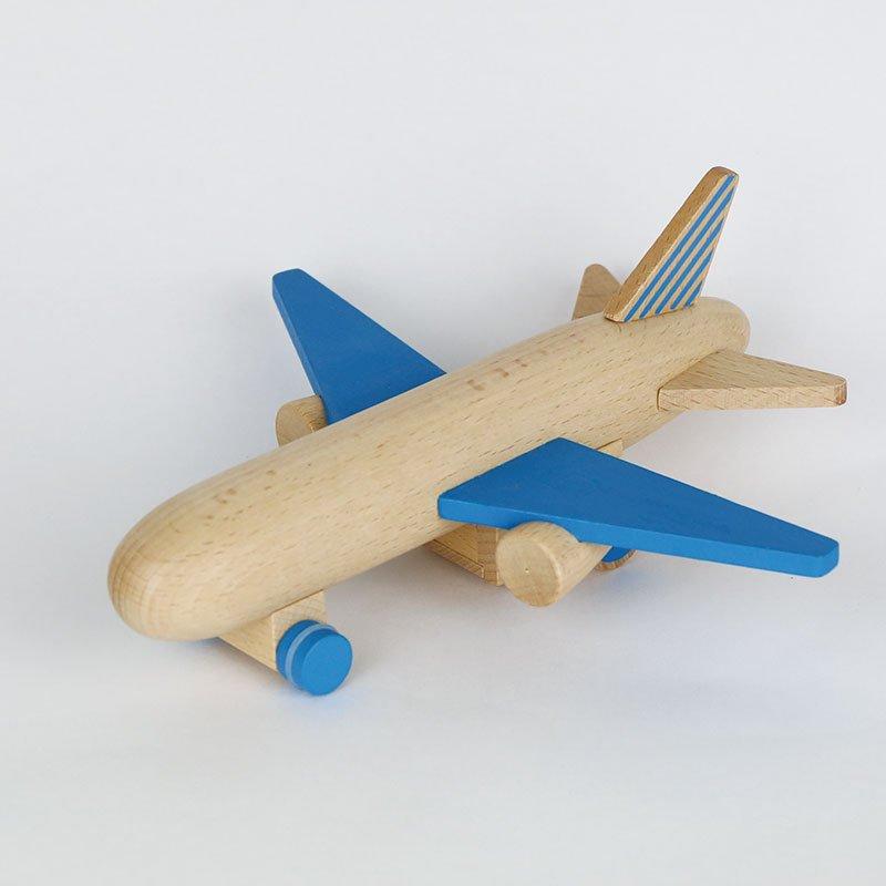 kiko+ hikoki-jet blueキコ ヒコーキジェット ブルー【木のおもちゃ・ギフト】