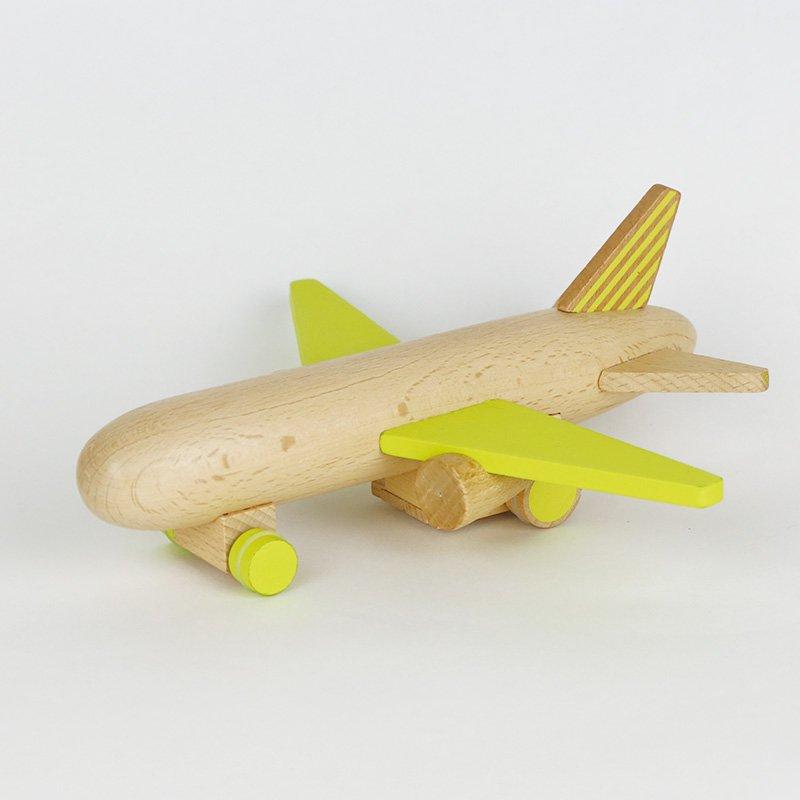 kiko+ hikoki-jet yellowキコ ヒコーキジェット イエロー【木のおもちゃ・ギフト】