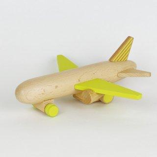 kiko+ hikoki-jet yellow|キコ ヒコーキジェット イエロー【木のおもちゃ・ギフト】