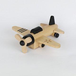 kiko+ hikoki-propeller black|キコ ヒコーキプロペラ ブラック【木のおもちゃ・ギフト】
