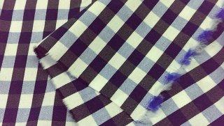 広幅先染めギンガムチェック 濃紺・ブルー