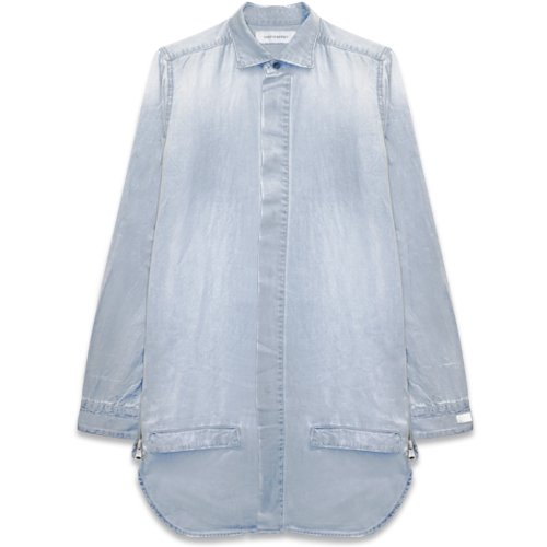 ONEFOUREIGHT / Long Tall Hem Scoop Denim Shirt