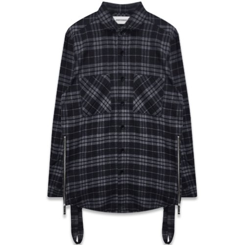 ONEFOUREIGHT / Flannel Check Shirt with Strap