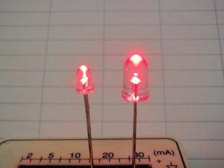 5mm LED単体・赤 日本製