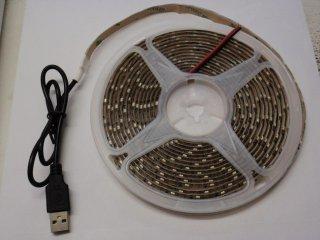 5VDC用LEDテープライトUSBコネクタ付き 電球色