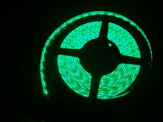 3528 300/5M 緑色 12VDC