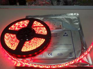 防水IP65  5050 LED テープ 赤色 300/5m 12VDC