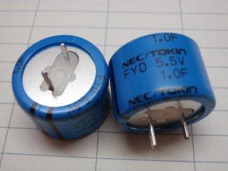 電気二重層コンデンサ 5.5V1.0F