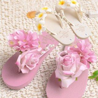 可愛い花 ピンク ホワイト スリッパ ビーチサンダル レディース スリッパ大特集 ビーチカジュアル 上履き 人気UP 夏物ビーチサンダル