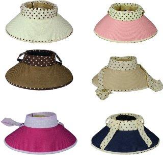 新作品 韓国風 ドット柄 可愛い おしゃれ つば広帽子 リゾート帽子 花柄 レディース帽子
