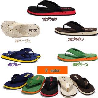 メンズサンダル 5色 フラットソール ファッションビーチサンダル 低ソール ゴム ラバー (サイズは普通より1サイズを大きくになります)