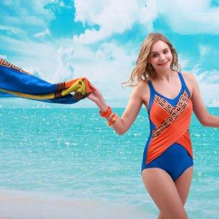 ファッション 切替の新作 デザイン パレオ付 ワンピース水着 ファッションレディース 水着 女性 ワンピース オシャレ度アップ