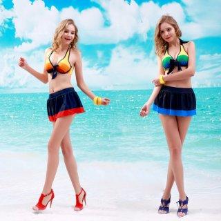 ファッション スカート ビキニ 3点セット ペア水着 ファッションデザイン 大きい胸 可愛い水着