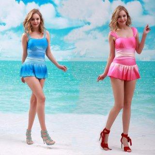 最新デザイン セクシー平角 パンツスカート パッドあり ワンピース水着 レディース水着 ミズギ オシャレビキニ 女性ワンピース オシャレ度アップ