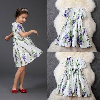 高品質ワンピース 子供ワンピース 清楚可愛い シンプル 綺麗ワンピース ファッションアパレル onepiece  花柄ワンピース