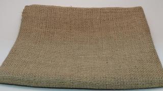【自然素材エコクラフト 麻生地】ジュート麻 生成(ナチュラル)    巾約110cm�1mカット