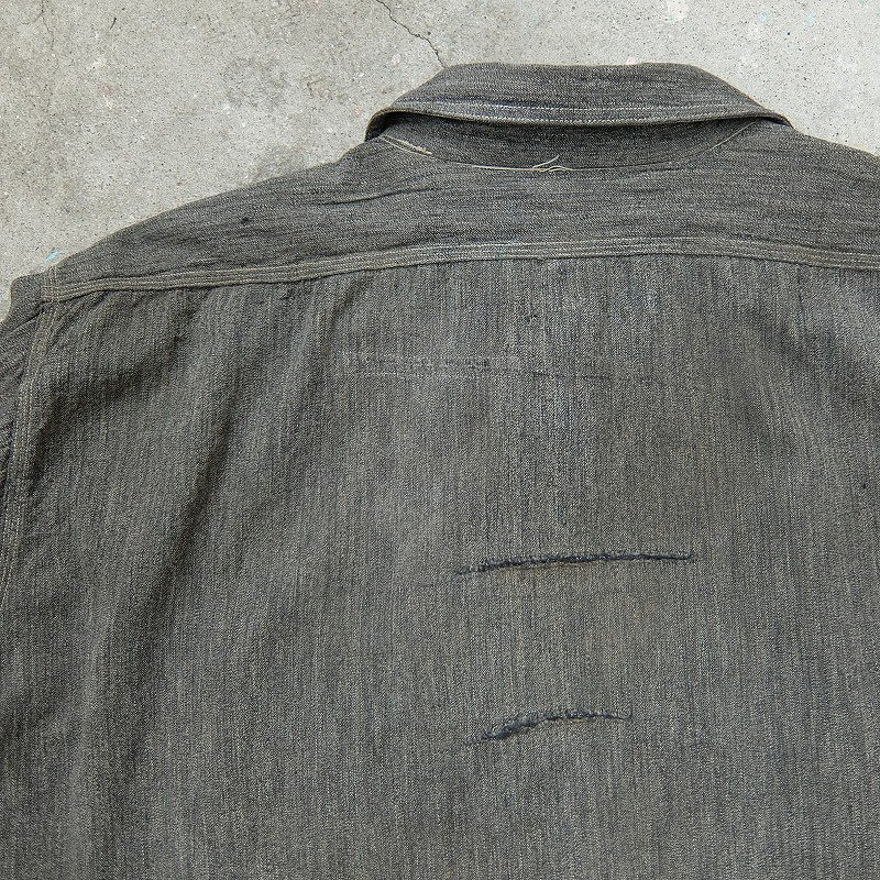 1930's FIVE BROTHERS Black Covert Work Shirt