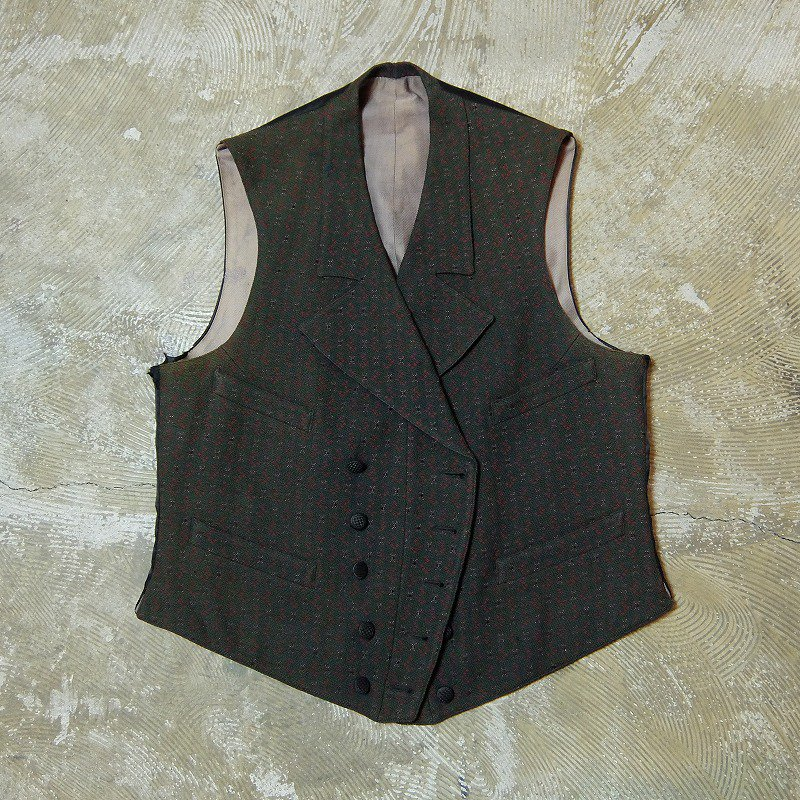 1900's〜1910's Double Breasted Waistcoat