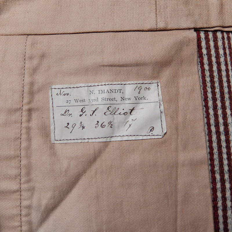 1900's N.IMANDT WOOL TROUSERS