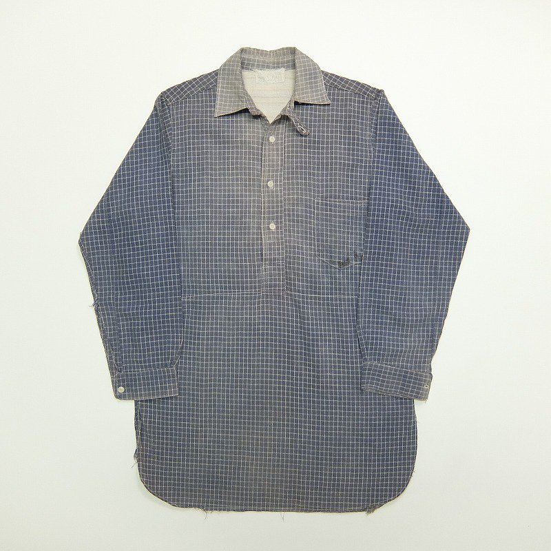 1890's PULLOVER COTTON WORK SHIRT
