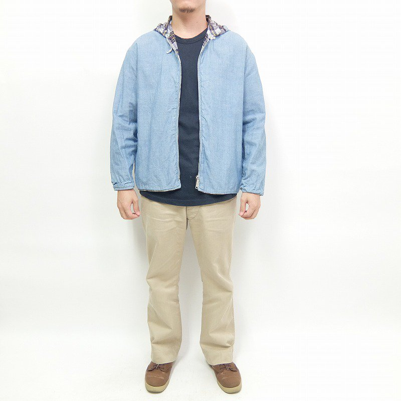 CHAMBRAY × MADRAS CHECK REVERSIBLE JACKET