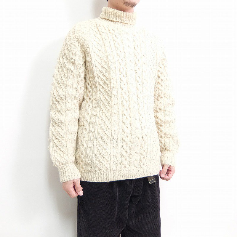 Hand Knit Fisherman Turtle Neck
