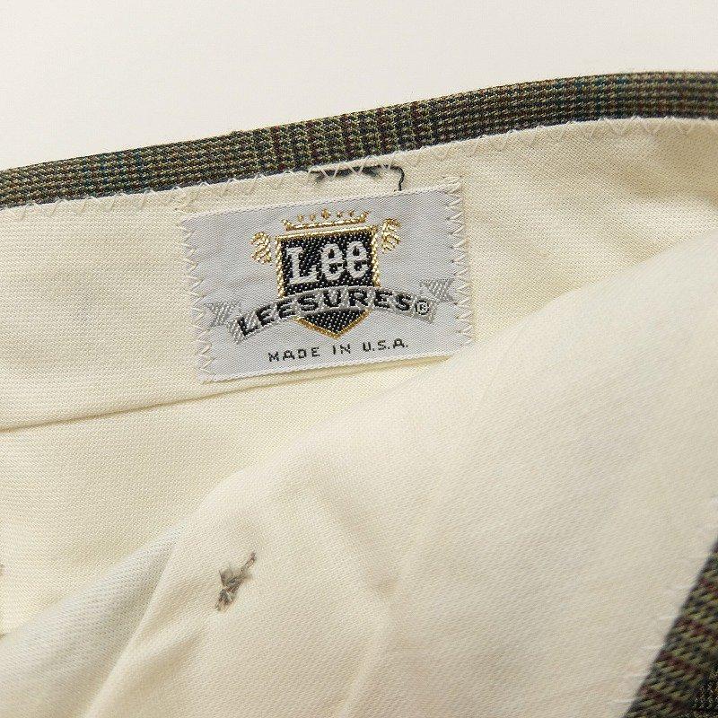 Lee Glen Check Slacks