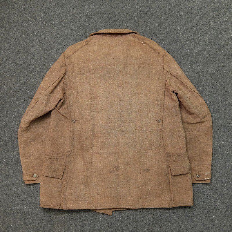 French Herringbone Linen Hunting Jacket