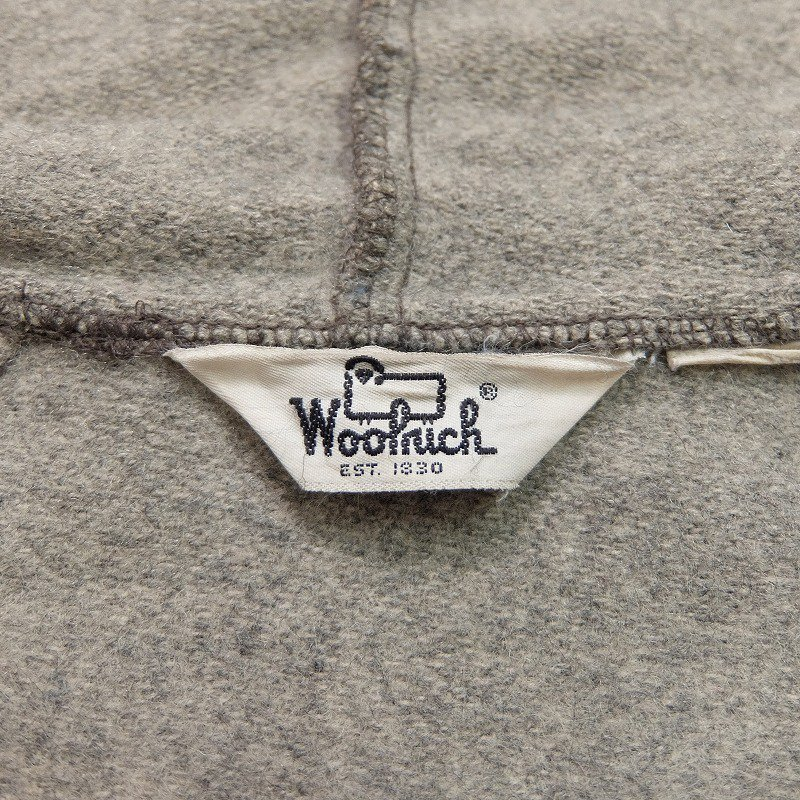 Woolrich Zip-Up Wool Coat