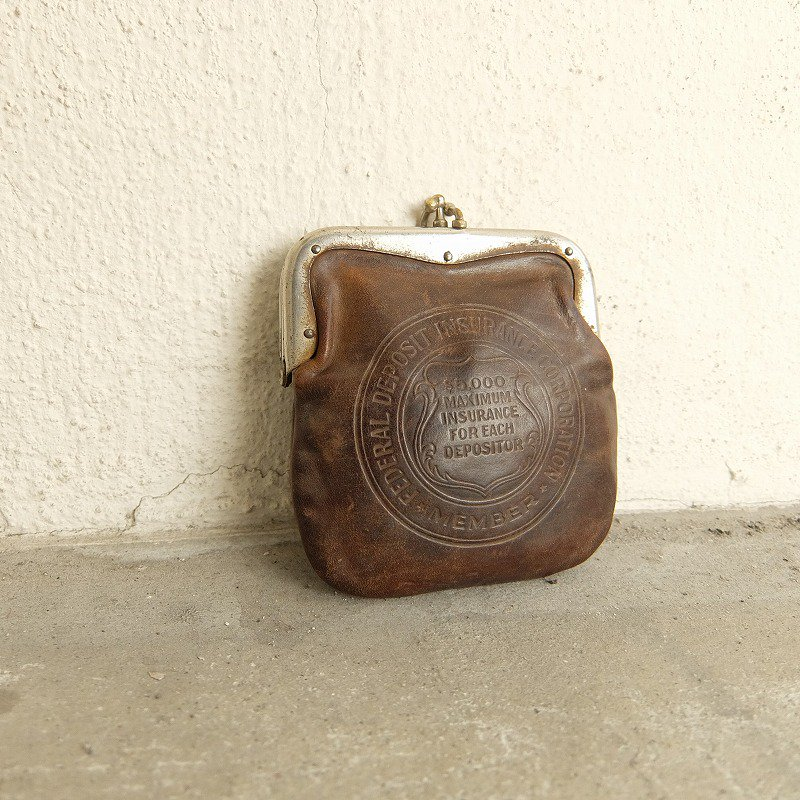 STATE NATIONAL BANK Leather Coin Purse