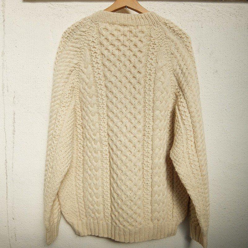 Vintage V-Neck Fisherman Sweater