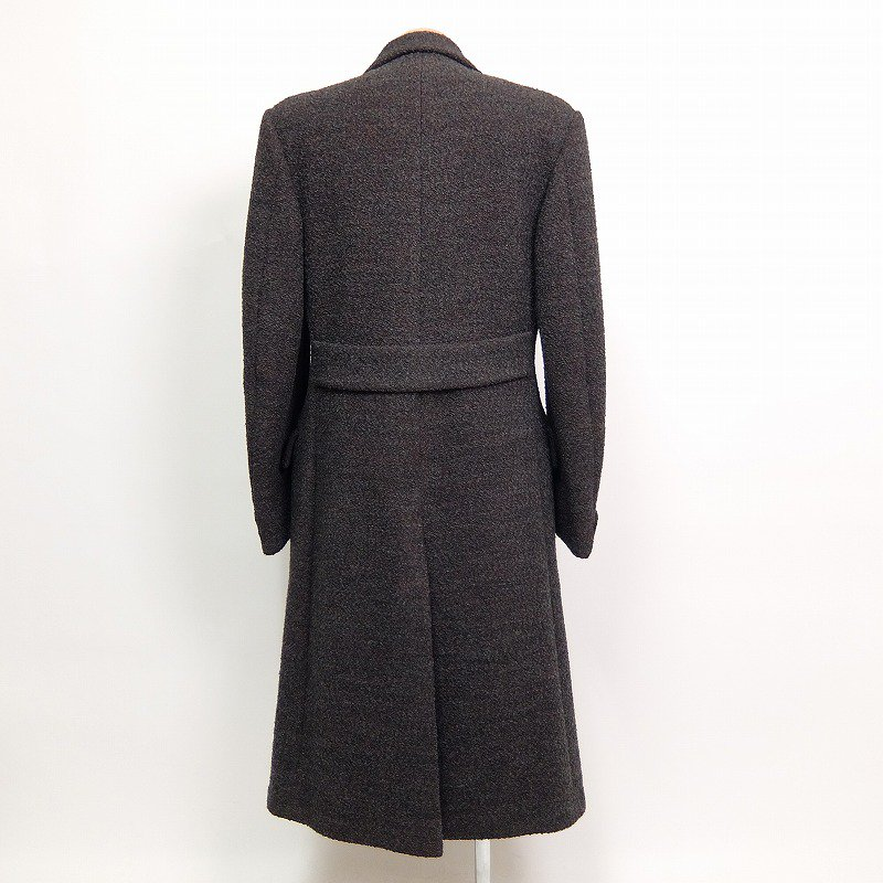 Double Breasted Twist Wool Over Coat