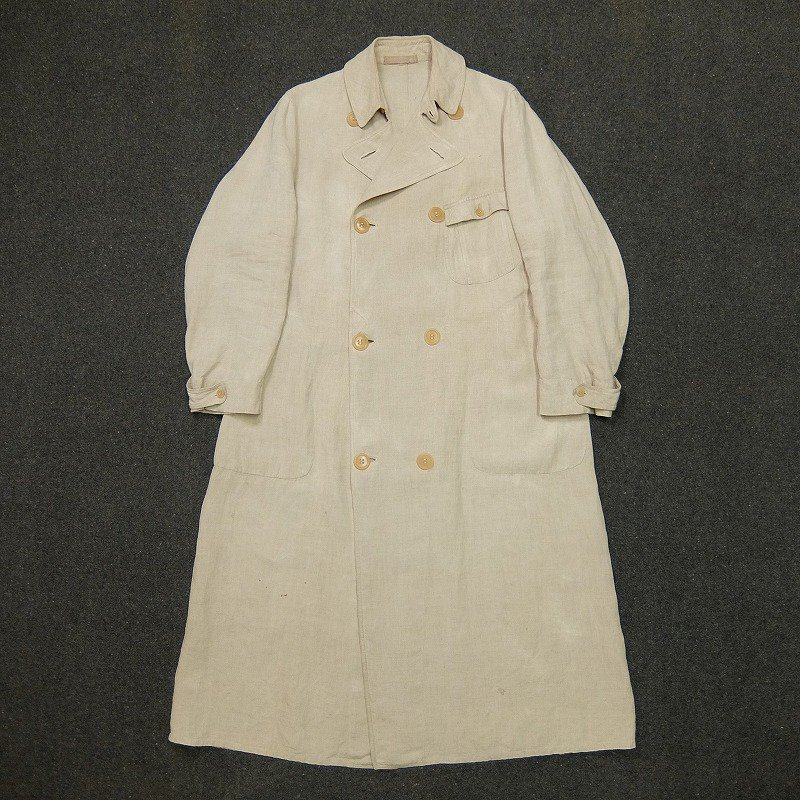 Double Breasted Linen Duster Coat