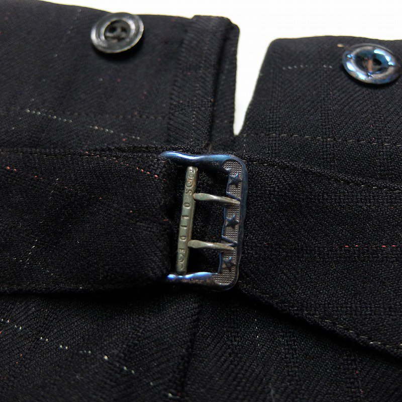 Wool Trousers with Buckle Back